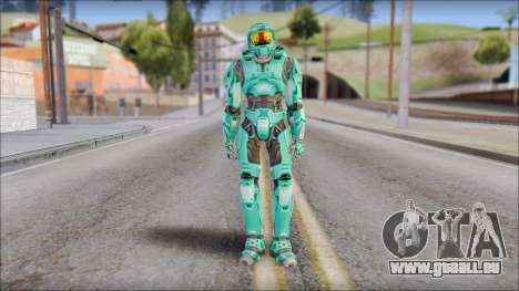 Masterchief Blue-Green from Halo für GTA San Andreas zweiten Screenshot