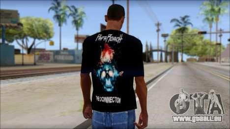 Papa Roach The Connection Fan T-Shirt für GTA San Andreas zweiten Screenshot