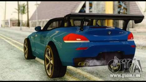 BMW Z4 sDrive28i 2012 pour GTA San Andreas laissé vue