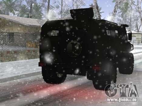 GAZ 2975 Tigre pour GTA San Andreas vue arrière