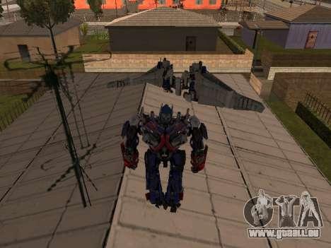 Optimus Jetpack pour GTA San Andreas troisième écran