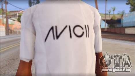 Avicii Fan T-Shirt für GTA San Andreas dritten Screenshot