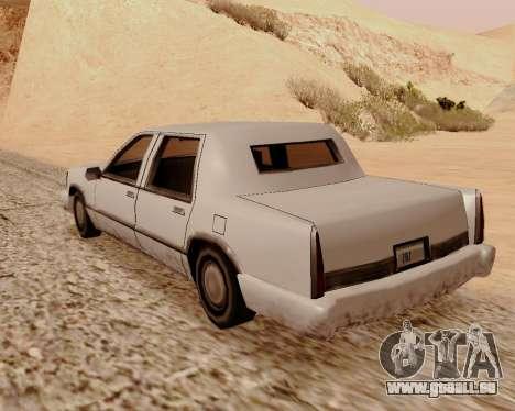 Stretch-Limousine für GTA San Andreas zurück linke Ansicht