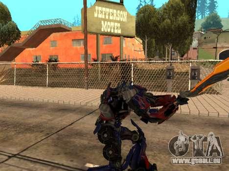Optimus Sword pour GTA San Andreas sixième écran