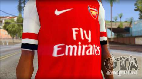 Arsenal FC Giroud T-Shirt für GTA San Andreas dritten Screenshot