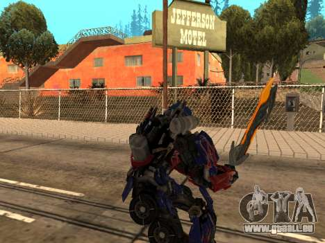 Optimus Sword pour GTA San Andreas