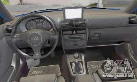 Audi A3 1999 pour GTA San Andreas vue intérieure