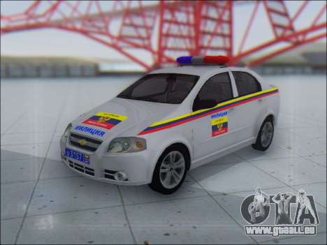 Chevrolet Aveo Милиция OHP pour GTA San Andreas