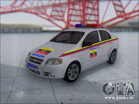 Chevrolet Aveo Милиция OHP pour GTA San Andreas