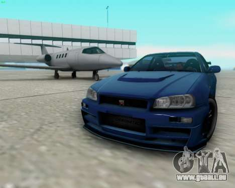 Nissan Skyline R34 Fast and Furious 4 pour GTA San Andreas