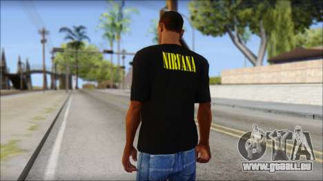 Nirvana T-Shirt für GTA San Andreas zweiten Screenshot