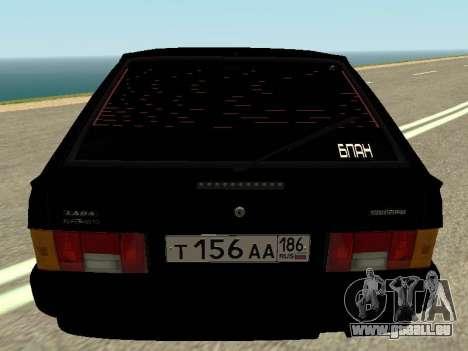 VAZ 2114 pour GTA San Andreas vue arrière