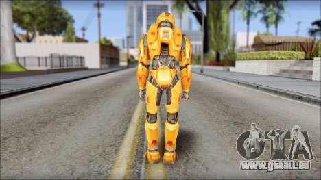 Masterchief Orange pour GTA San Andreas troisième écran