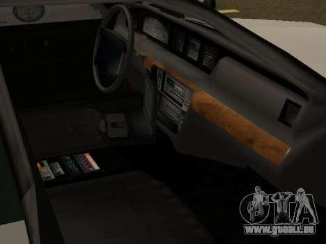 Police Original Cruiser v.4 für GTA San Andreas Innen