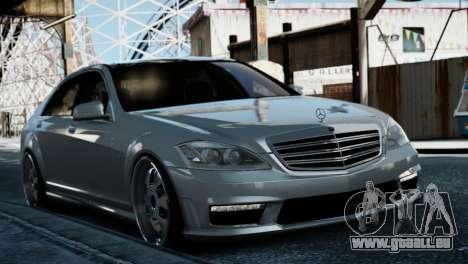 Mercedes-Benz S65 W221 AMG v1.3 pour GTA 4 Vue arrière de la gauche