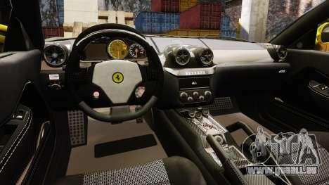 Ferrari 599 GTO PJ3 pour GTA 4 est une vue de l'intérieur