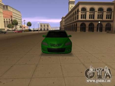 Mazda 3 pour GTA San Andreas vue arrière