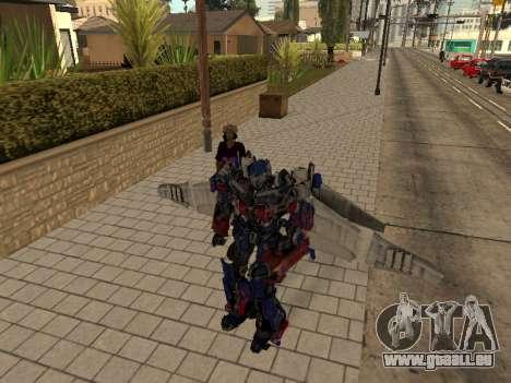 Optimus Jetpack pour GTA San Andreas cinquième écran