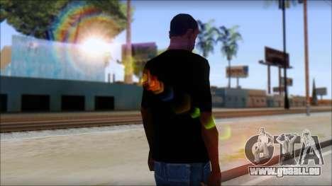 Red Pentagram Shirt für GTA San Andreas zweiten Screenshot