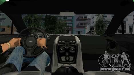 Aston Martin One-77 police für GTA Vice City zurück linke Ansicht