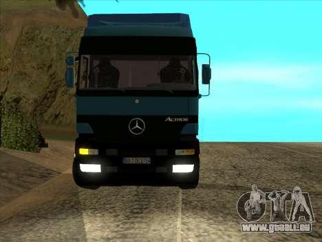 Mercedes-Benz Actros 1840 pour GTA San Andreas vue arrière