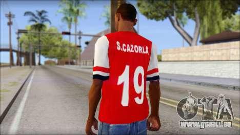 Arsenal 2013 T-Shirt pour GTA San Andreas deuxième écran