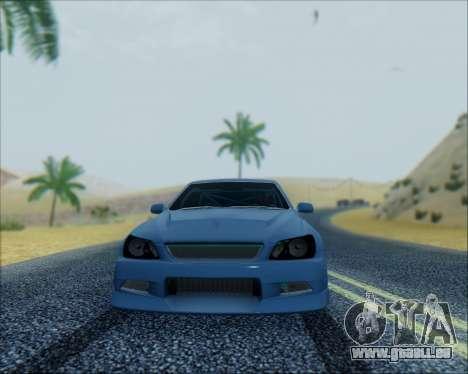 Toyota Allteza C-West pour GTA San Andreas laissé vue