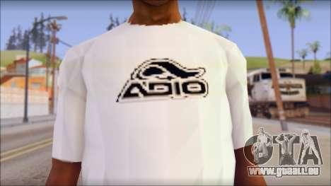 Adio T-Shirt pour GTA San Andreas troisième écran