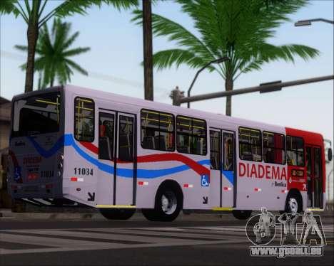 Comil Svelto 2008 Volksbus 17-2 Benfica Diadema für GTA San Andreas zurück linke Ansicht
