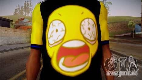 Black & Yellow T-Shirt pour GTA San Andreas troisième écran