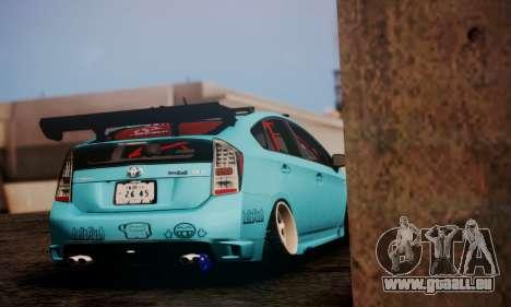 Toyota Prius Hybrid 2011 Helaflush pour GTA San Andreas laissé vue