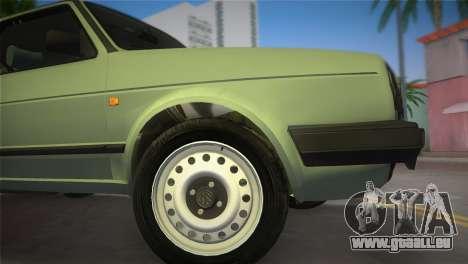Volkswagen Golf II 1991 pour GTA Vice City sur la vue arrière gauche