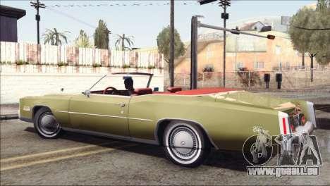 Cadillac Eldorado Stock pour GTA San Andreas laissé vue