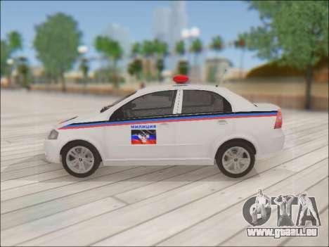 Chevrolet Aveo Police MDN pour GTA San Andreas laissé vue