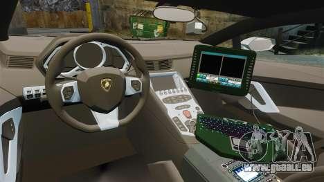 Lamborghini Aventador LP700-4 v2 [RIV] pour GTA 4 Vue arrière