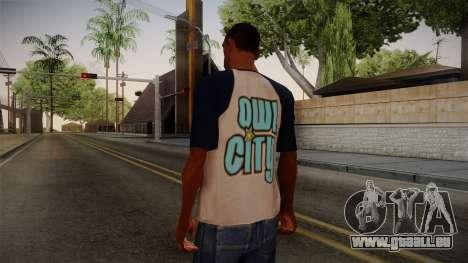 Owl City T-Shirt für GTA San Andreas zweiten Screenshot