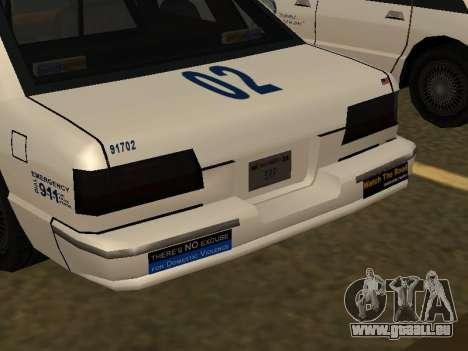 Police Original Cruiser v.4 pour GTA San Andreas vue de dessus