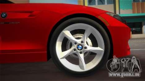 BMW Z4 sDrive35is pour une vue GTA Vice City de la droite