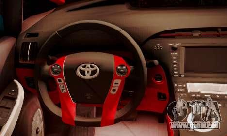 Toyota Prius Hybrid 2011 Helaflush pour GTA San Andreas vue intérieure
