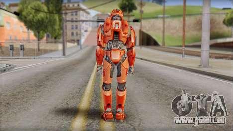 Masterchief Red from Halo pour GTA San Andreas deuxième écran