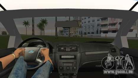 Ford Fusion 2009 pour GTA Vice City sur la vue arrière gauche