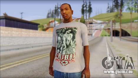 Tribal tee Mouse Inked White T-Shirt pour GTA San Andreas