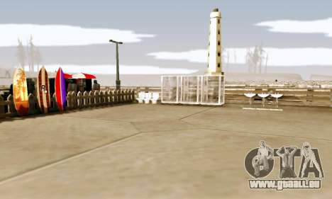 New Santa Maria Beach v1 pour GTA San Andreas troisième écran