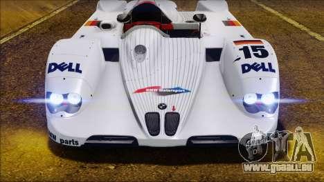BMW 14 LMR 1999 für GTA San Andreas Innenansicht