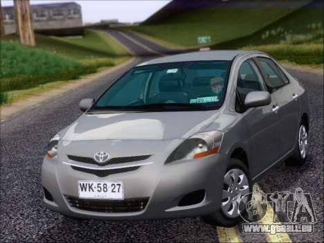 Toyota Yaris 2008 Sedan pour GTA San Andreas laissé vue