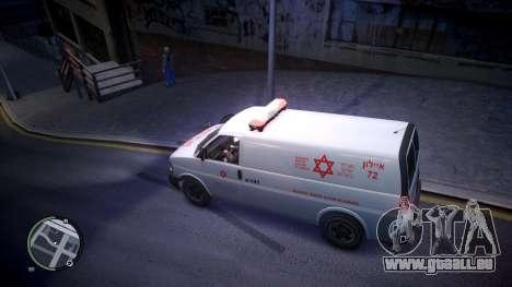 Israel MDA Ambulance für GTA 4 linke Ansicht