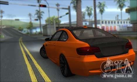 BMW M3 E92 Soft Tuning für GTA San Andreas linke Ansicht