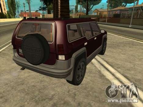 Landstalker from GTA 3 pour GTA San Andreas laissé vue