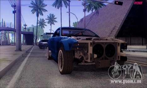 Ford Mustang GTR für GTA San Andreas rechten Ansicht