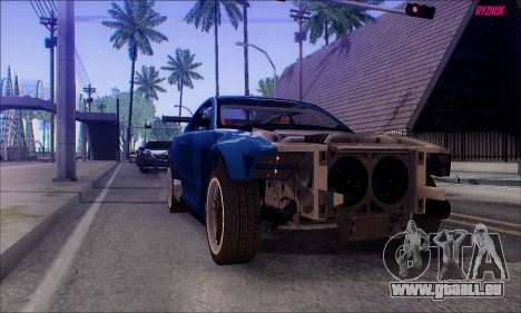 Ford Mustang GTR pour GTA San Andreas vue de droite
